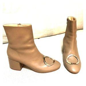 Miista beige leather booties sz 38